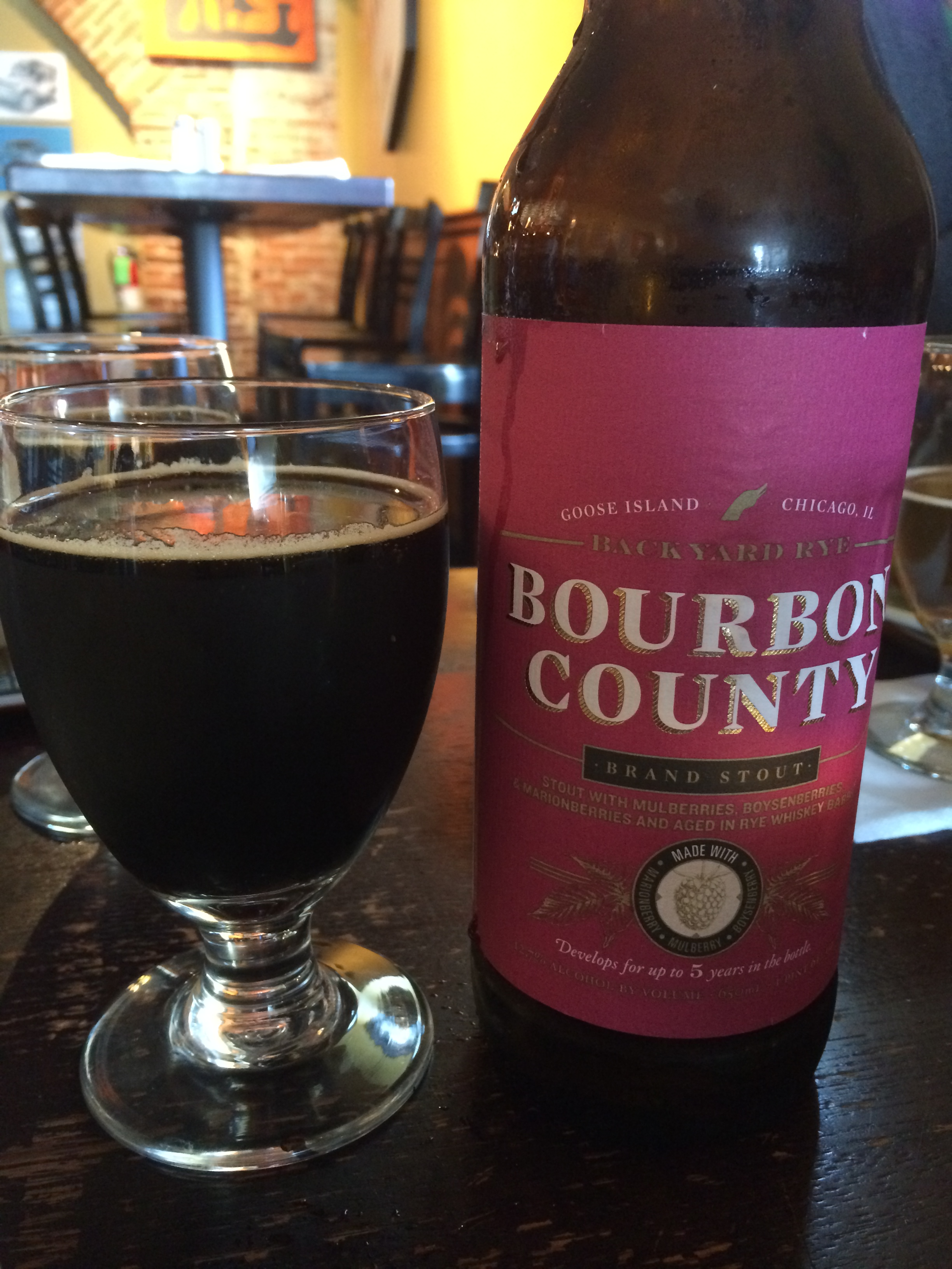 Bourbon County Backyard Rye goose island – backyard rye bcbs review – drews brews reviews